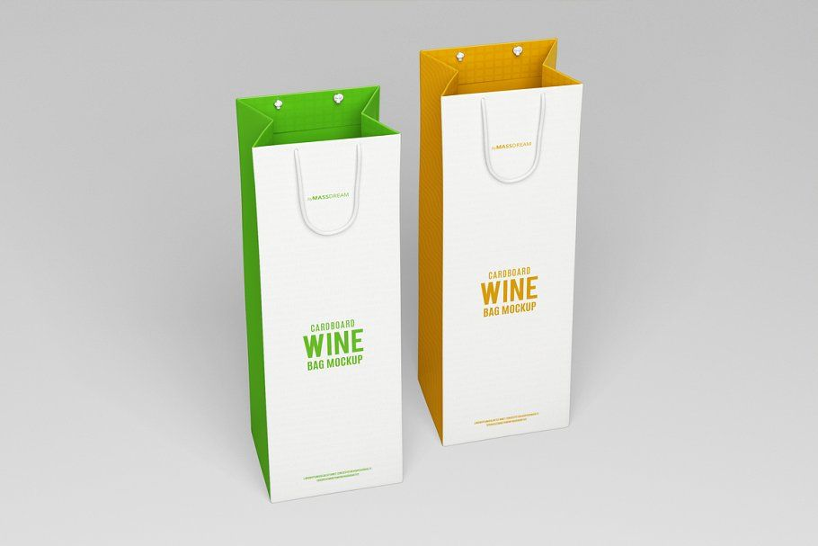 Download Cardboard Wine Bag Mock Up Wine Bag Bag Mockup Mockup