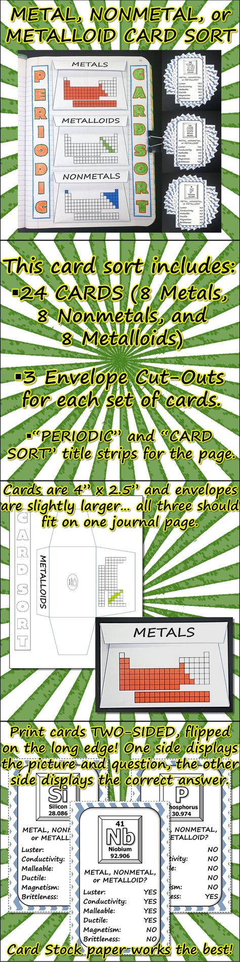 Science journal metal nonmetal and metalloid card sort science journal metal nonmetal and metalloid card sort gamestrikefo Images