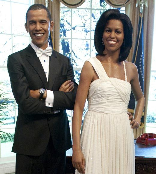 President Barak and First lady Michelle Obama Identical Celebrity Wax Figures - chicagotribune.com