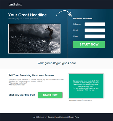 Clickthrough Template Image PageWiz Templates Pinterest - About page template