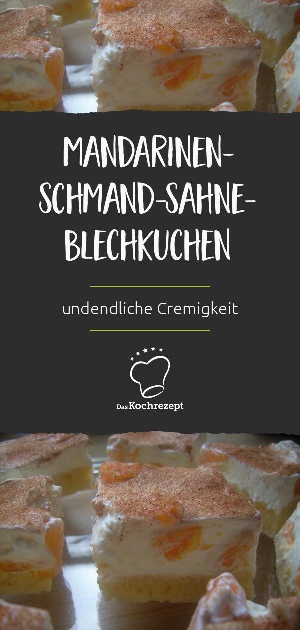 Mandarinen-Schmand-Sahne-Blechkuchen