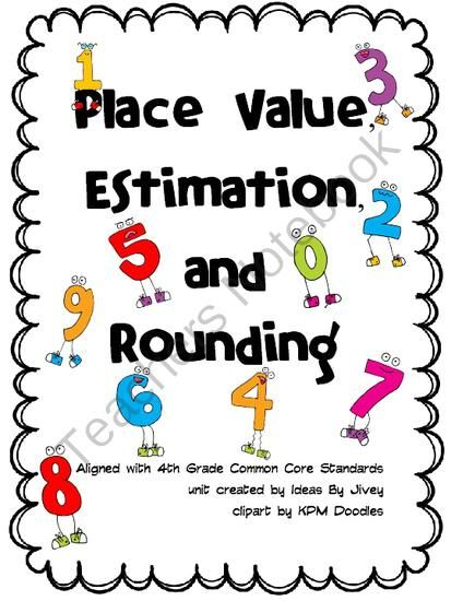Common Core Aligned 4th Grade Place Value Unit from Ideas by Jivey - place value unit