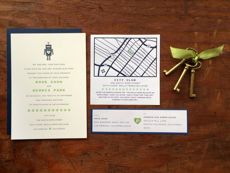 Geek chic techy robot letterpress wedding invitation its amore geek chic techy robot letterpress wedding invitation its amore design letterpress stopboris Images