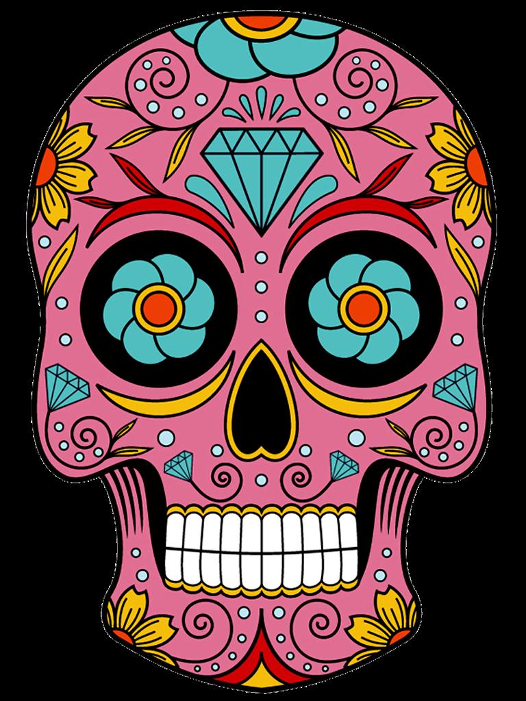 Caveiras Em Png Queroimagem Ceica Crispim 12 Png 768 1024 Sugar Skull Art Sugar Skull Girl Sugar Skull Artwork