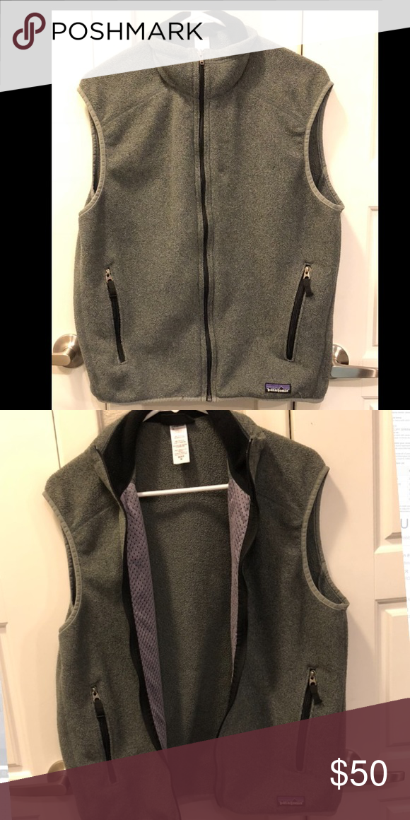 e4fa4b60fc1085 Men's dark gray Patagonia fleece vest In great condition and perfect for  the cold weather. 2 zip pockets and zips up the front. Make me an offer!