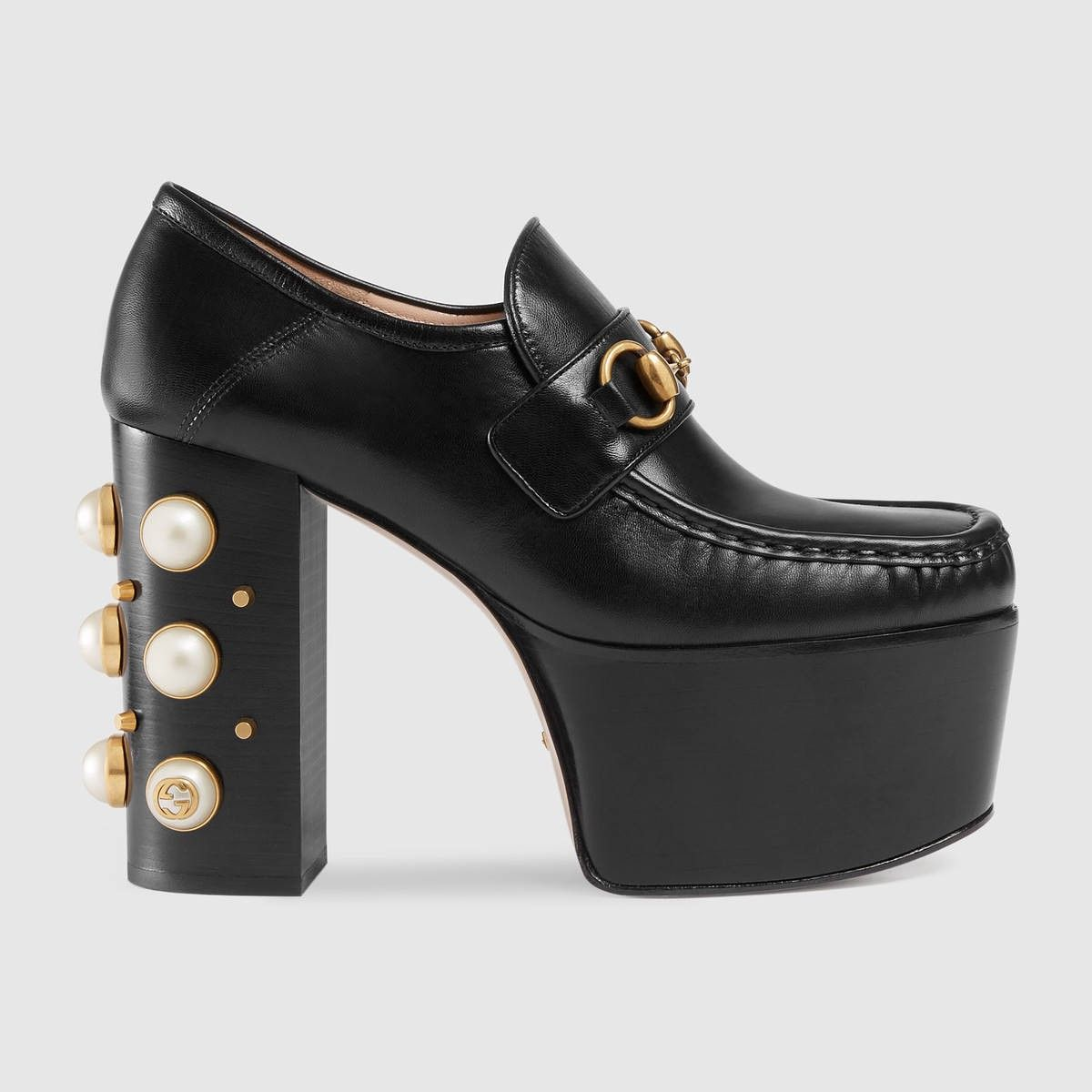 dc1955e6174 GUCCI Studded Leather Horsebit Loafers - Black Leather.  gucci  shoes  all