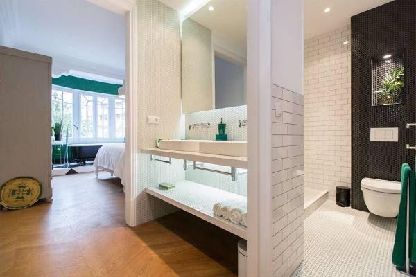 open en-suite badkamer | Bcn_Moodboard | Pinterest | Houses