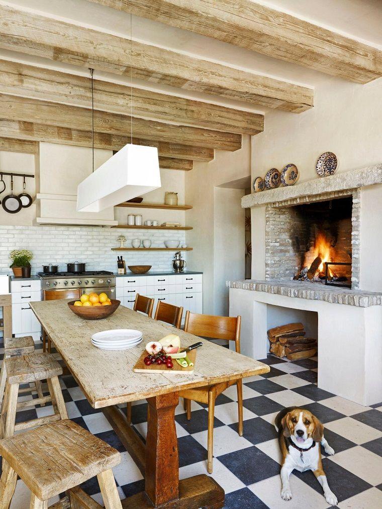 Cocinas rústicas con un toque muy artístico | Cocinas bonitas ...