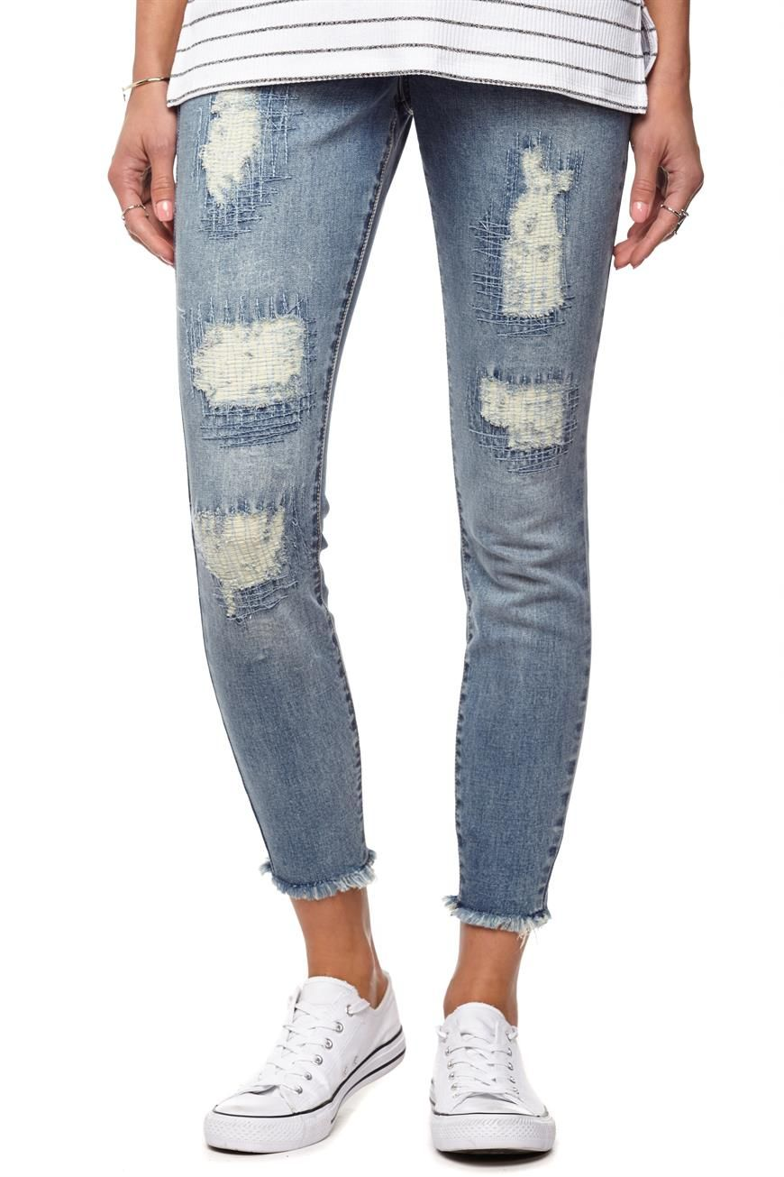 2019 year for lady- How to skinny wear slouch jeans