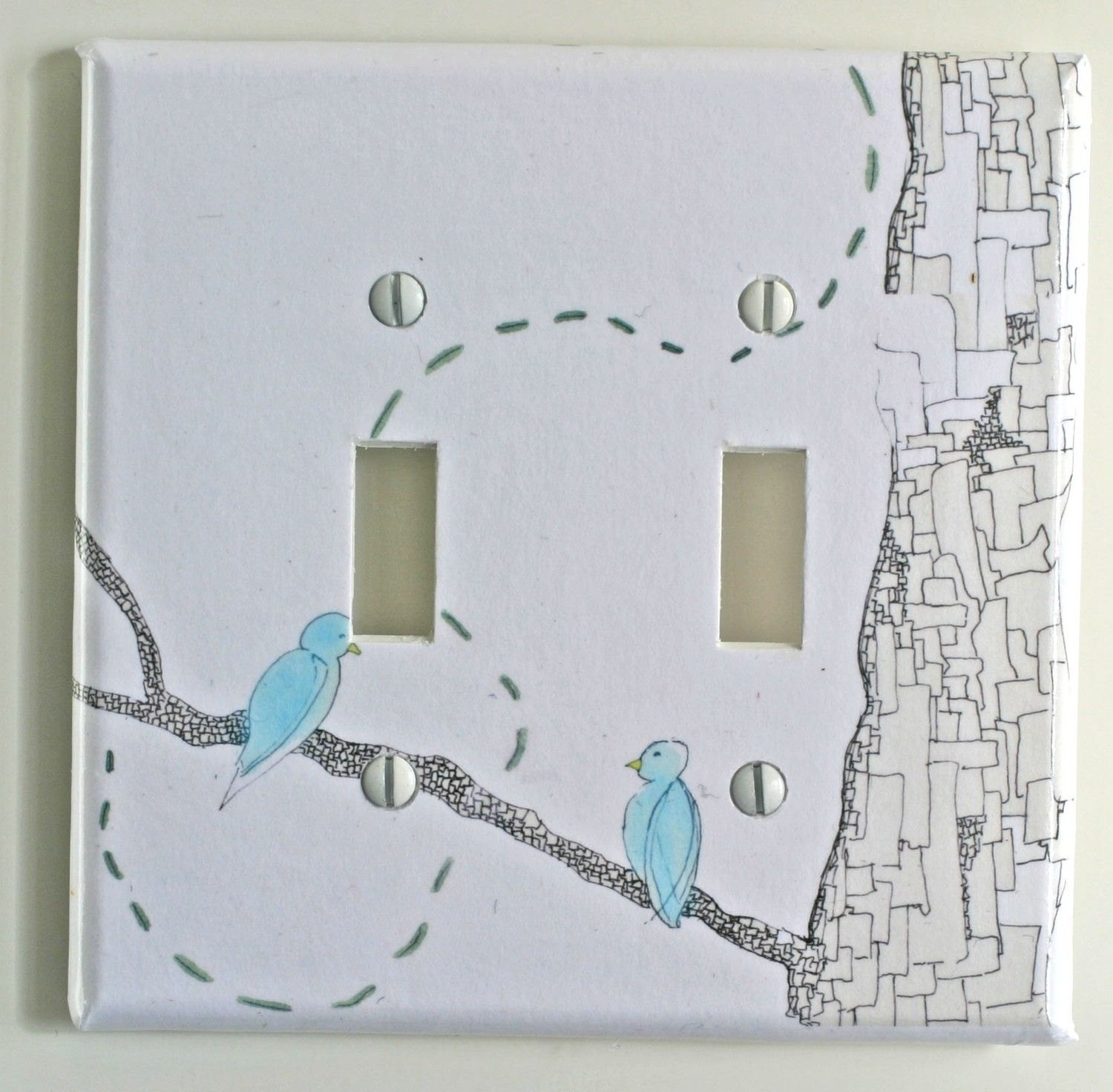 Love Birds Decorative Light Switch Plate Cover Made From Original ...