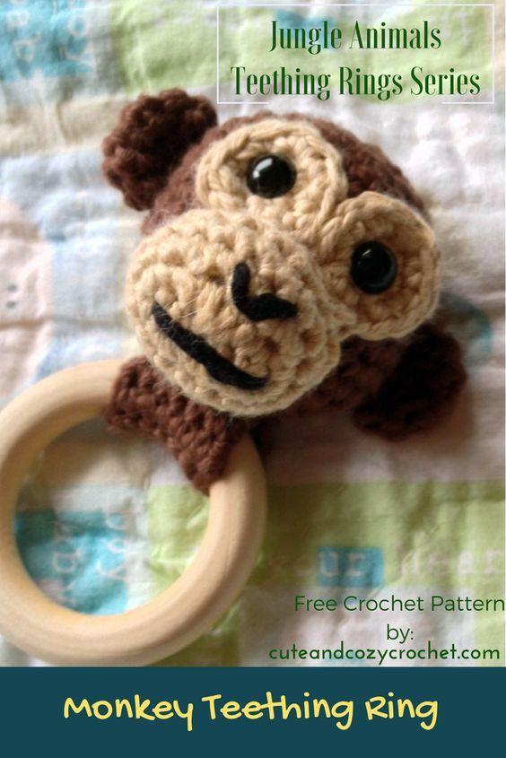 Monkey Teething Ring - Jungle Animals Teething Rings Series ...