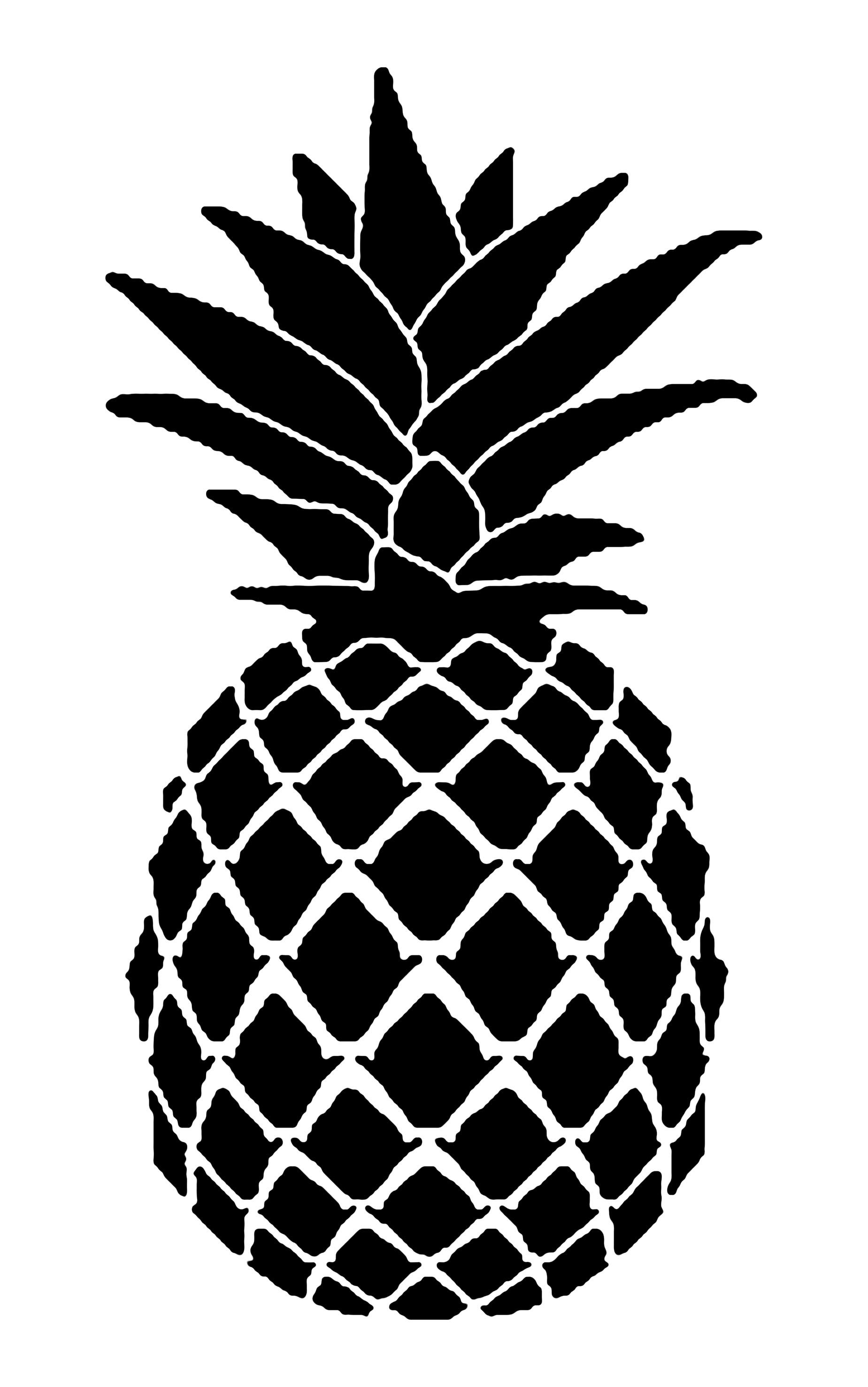 Pin by 方式 on 123 Stencil template, Pineapple, Stencils