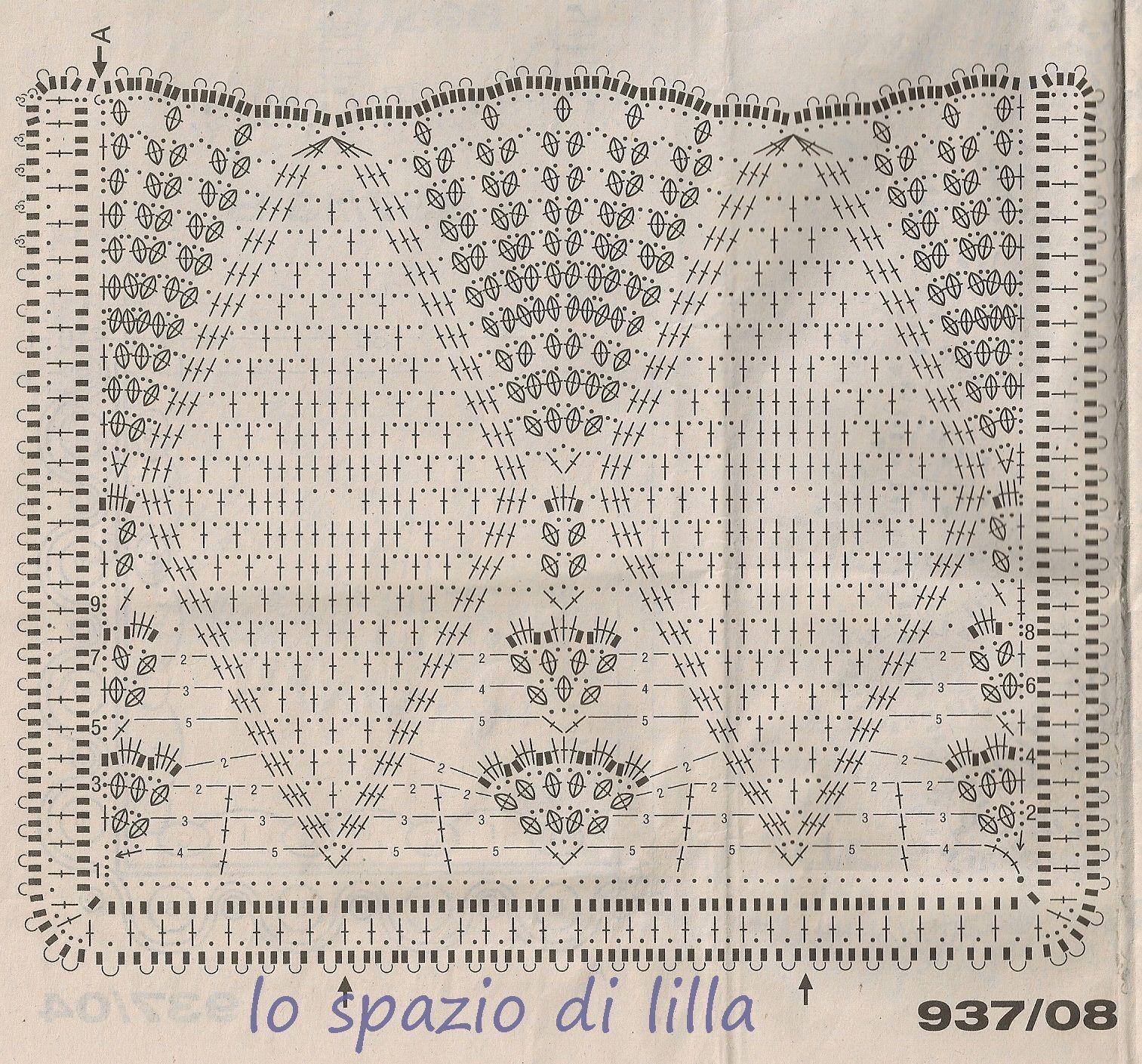 lo spazio di lilla pizzi e bordure all 39 uncinetto da