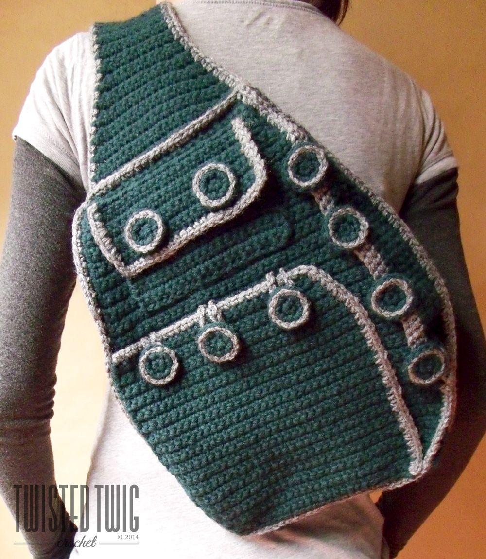 Shoulder Backpack - CROCHET PATTERN - $3.75