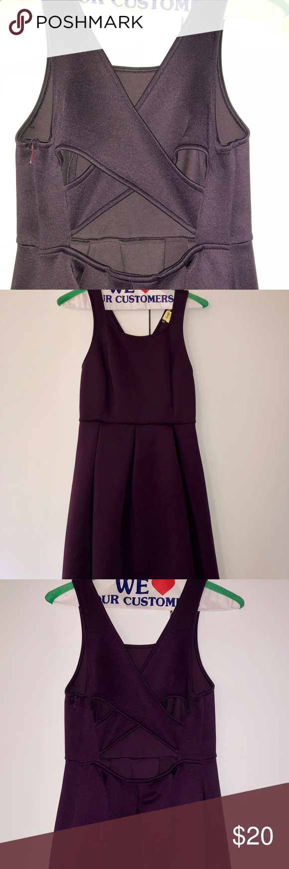I just added this listing on Poshmark  Express Dark Purple Skater Dress.   shopmycloset d355a2f23