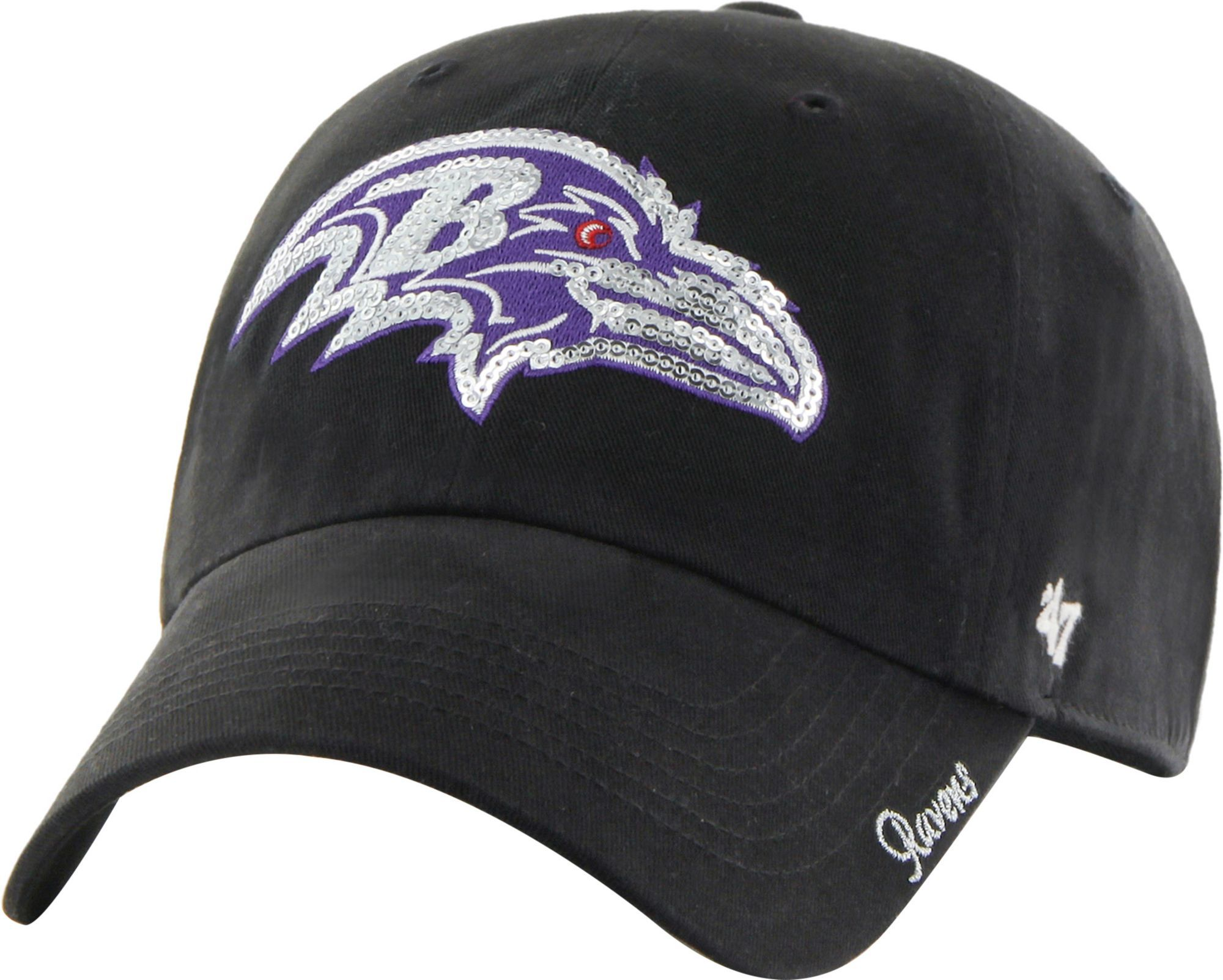 â 47 Women's Baltimore Sparkle Logo Black Adjustable Hat