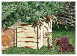 bauanleitung f r ein katzensicheres igelhaus kindersachen herbst pinterest igelhaus. Black Bedroom Furniture Sets. Home Design Ideas
