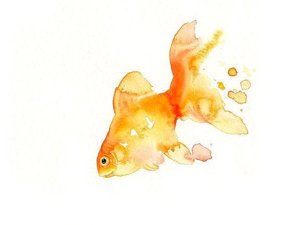 GOLDFISH 7x5inch-Art Print-animal Watercolor Print-Giclee Print ...