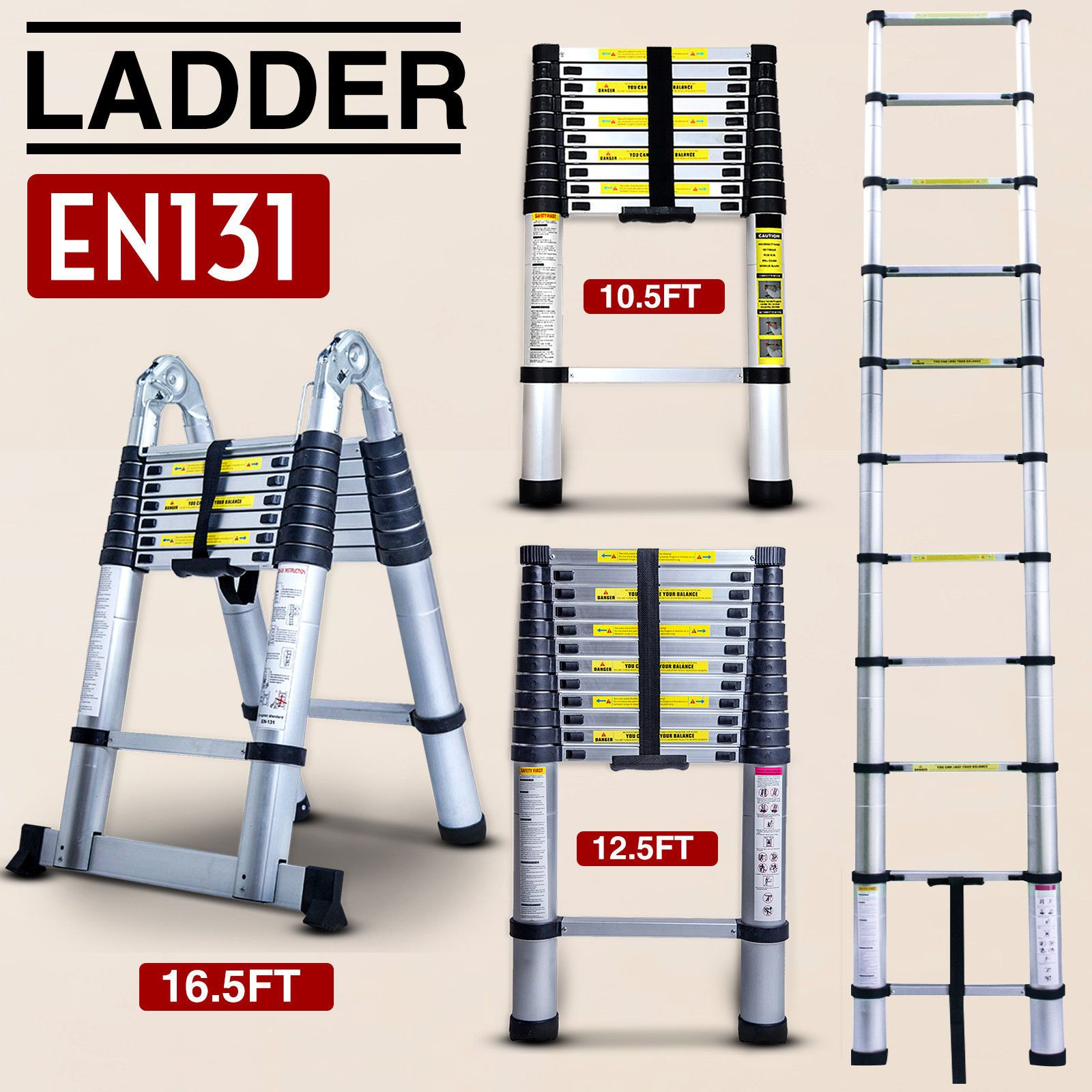 10 5 12 5 16 5ft Multipurpose Aluminum Ladder Fold Extend Telescopic Garden Tool Aluminium Ladder Telescopic Ladder Ladder