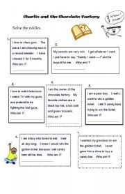 English worksheet: Charlie and the Chocolate Factory - Worksheet ...