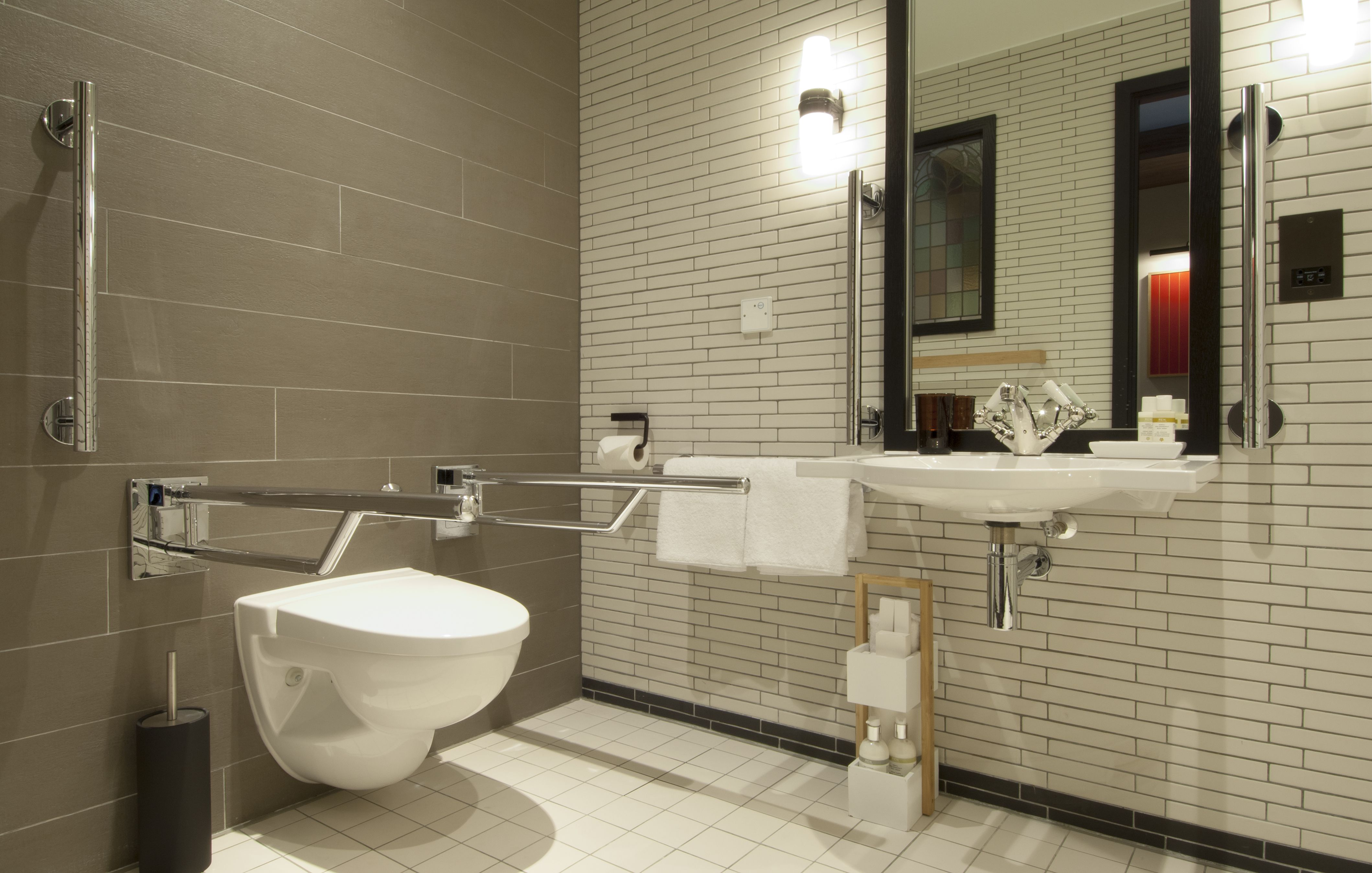Accessible Hotel Design  Universal design bathroom, Disabled