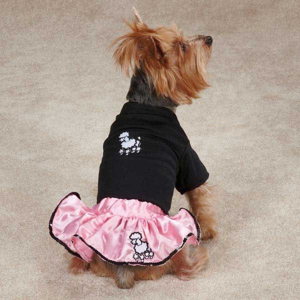 Dog 2 Pc Poodle Skirt Set Pink 50 S Halloween Costume Pink Pet