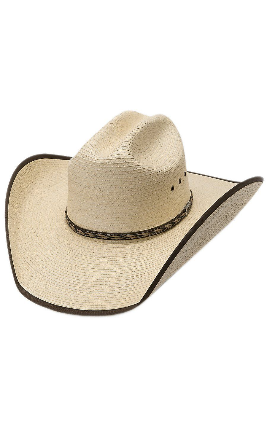 da91ba92cd0c7 Larry Mahan Range Natural Palm with Bound Edge Cowboy Hat Mens Western  Hats