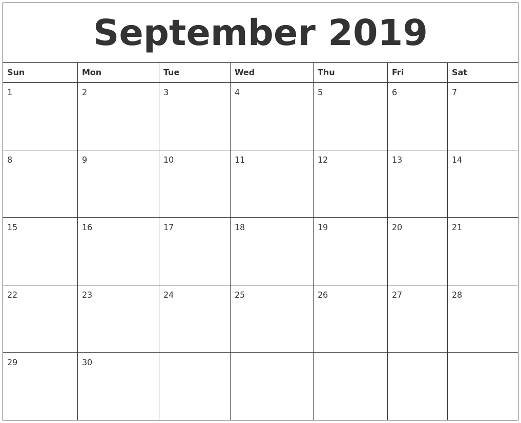 September Calendar 2019 Sep2019 September 2019caendar Septembercalendar Holidays Deskc September Calendar Calendar Printables November Printable Calendar