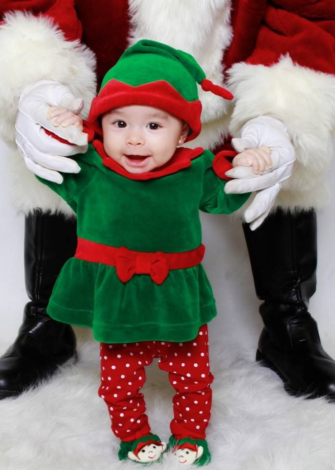 Baby elf, christmas portrait, christmas baby photo, christmas photography,  christmas photo set, Santa portrait, baby girl photography, - Baby Elf, Christmas Portrait, Christmas Baby Photo, Christmas