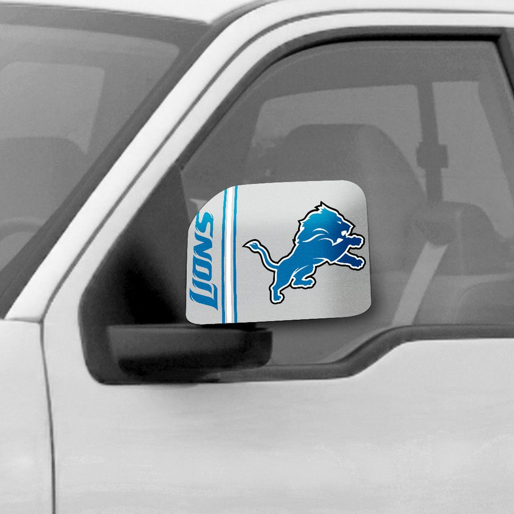 The Detroit Lions Car Side Mirror Cover, like a Lions jersey for your car or truck!