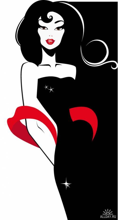 1920s Elegant Lady Clip Art   Lady Fashion Silhouette   1920's ...