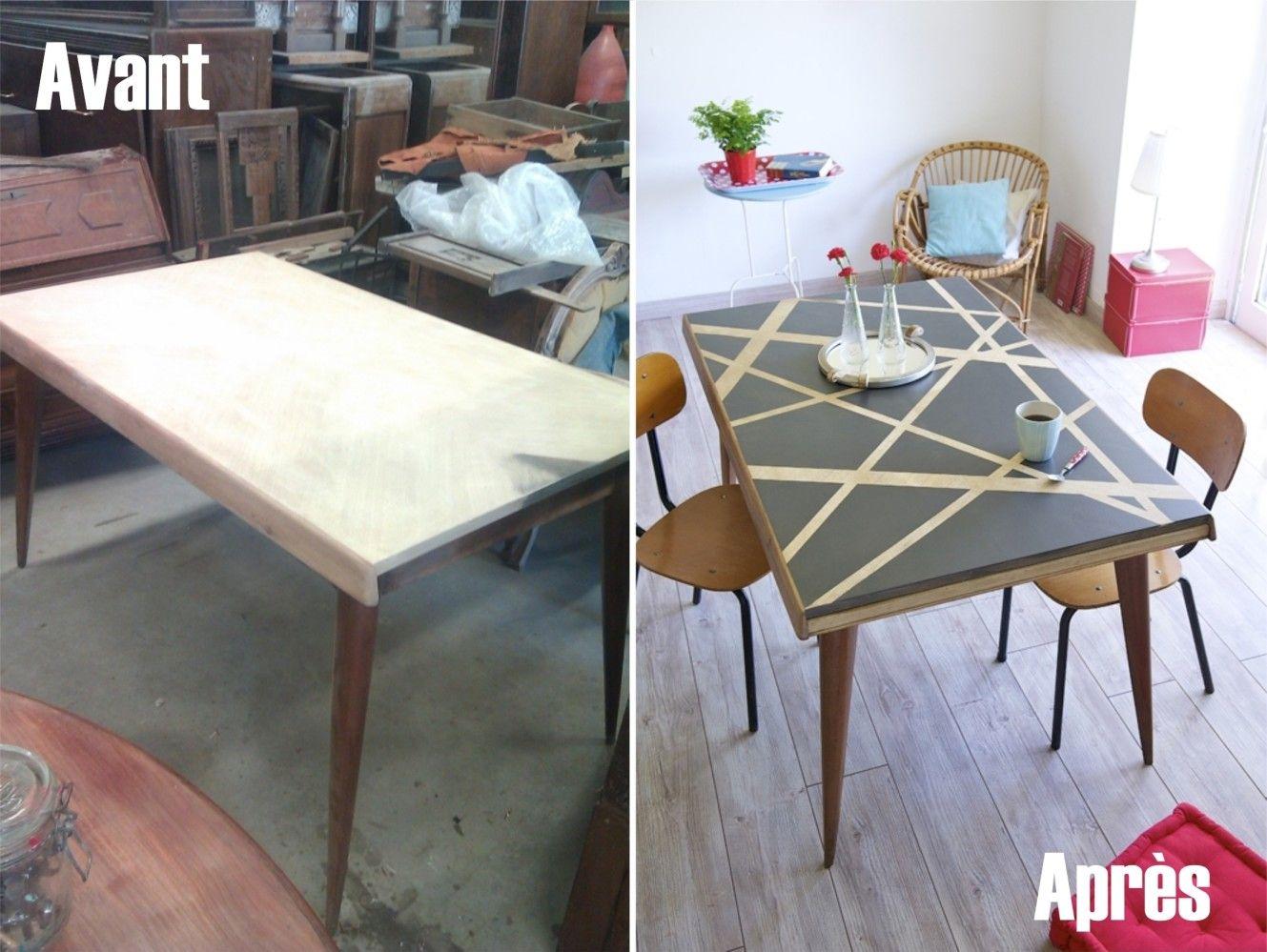 Comment Relooker Le Plateau D Une Table Customiser Une Table En Bois Customiser Table Relooker Une Table Basse