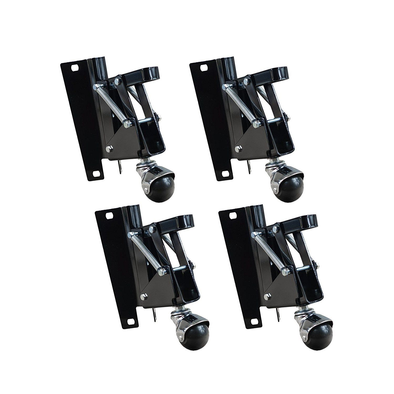 Amazon Com Powertec 17200 Retractable Caster Kit 4 Pack Home Improvement Retractable Casters Workbench Casters Workbench