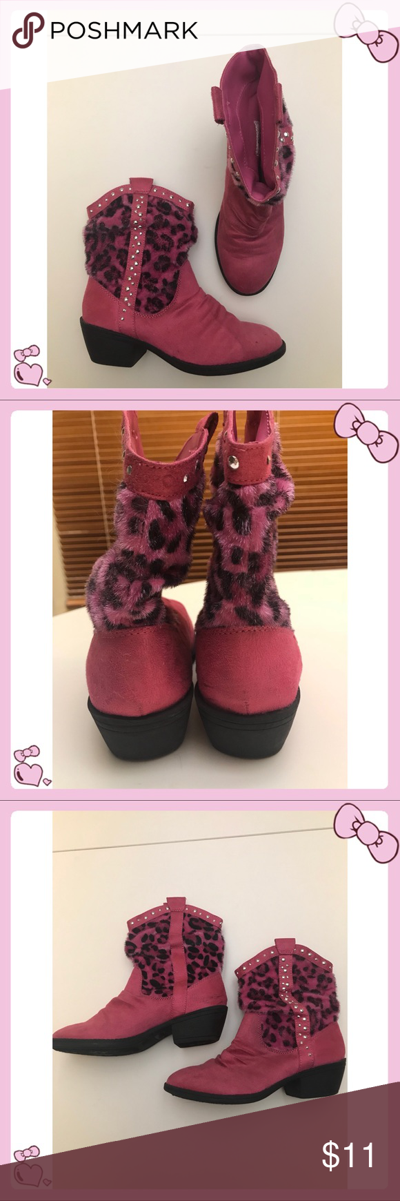 Justice Hot Pink Leopard Boots Hot Pink Leopard Leopard Boots Pink Suede