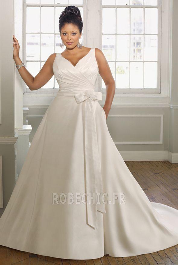 Robe de mariée Princesse Soie Naturel taille
