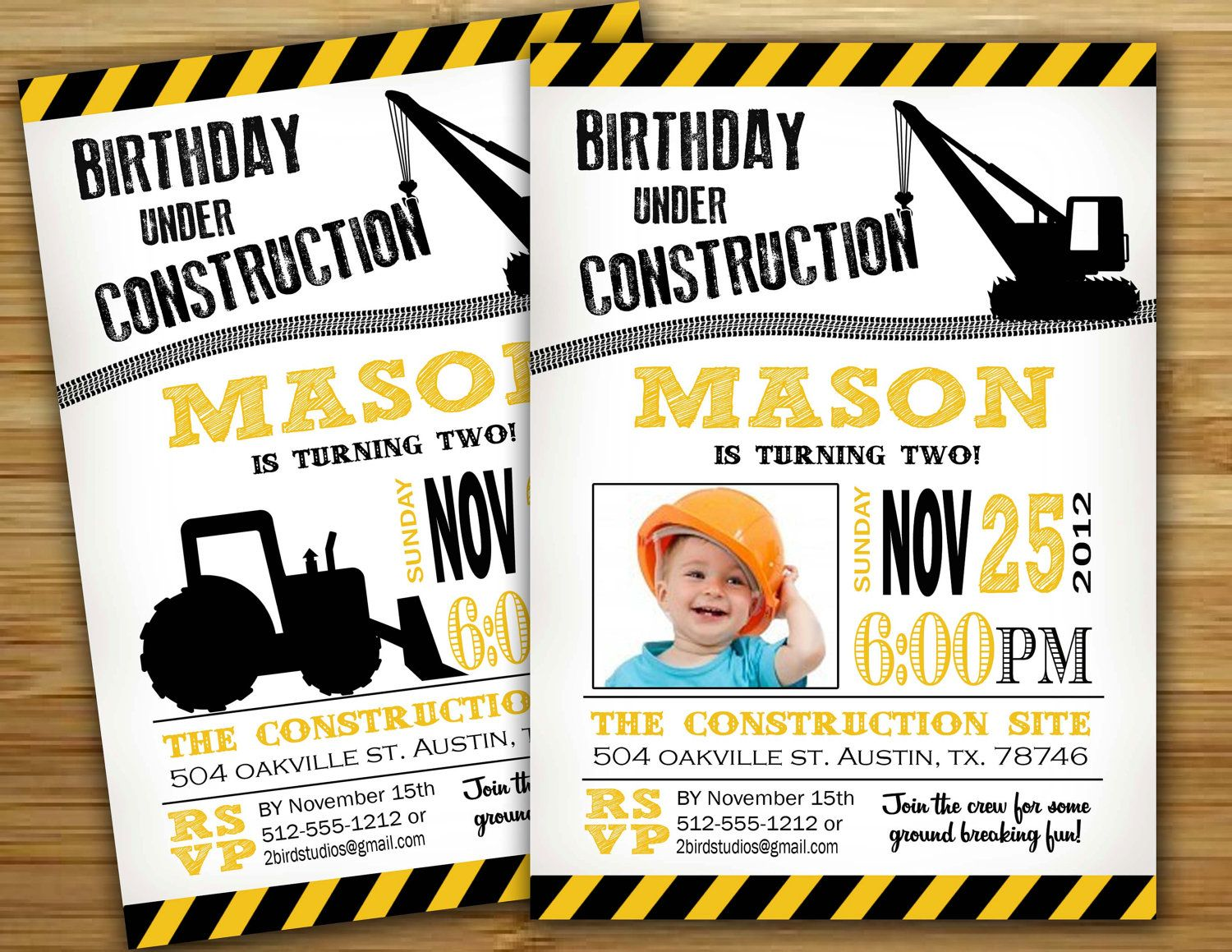 Construction Birthday Party Decorations Construction Birthday Party Invitation Invite Personalized Diy