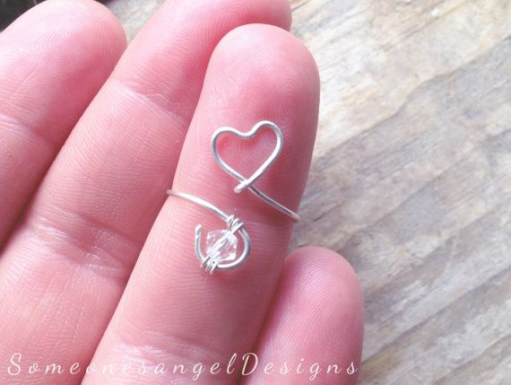 Heart Ring, Silver Midi Ring, Knuckle Ring, Midi Ring, Love Ring, Mid Finger Ring, Above Knuckle Ring, Sterling Silver Ring, Rings