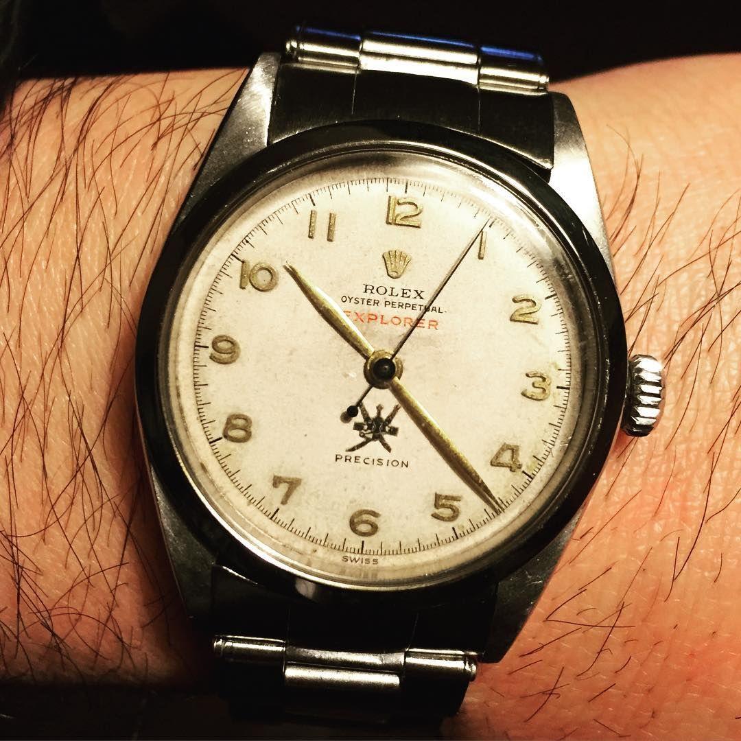Wrist watch price in oman -  Met Very Old Oman Crest Yesterday Rolex Vintagerlx Vintagerolex Explorer