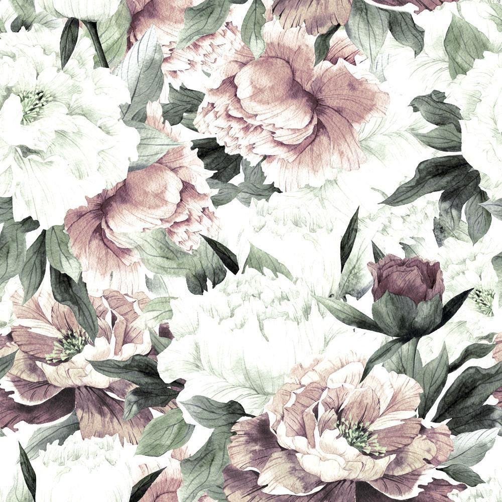 Vintage Peonies (With images) Floral wallpaper, Mural