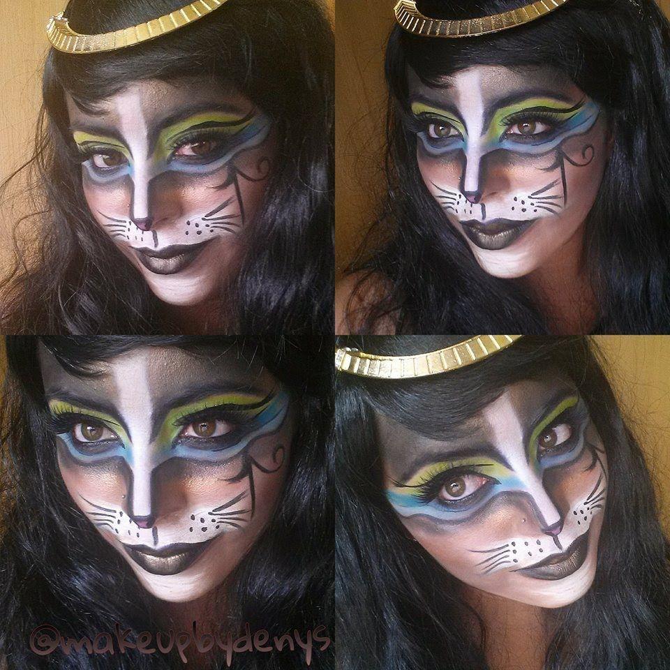 Egyptian cat makeup / maquillaje de gato egipcio … | Pinteres…