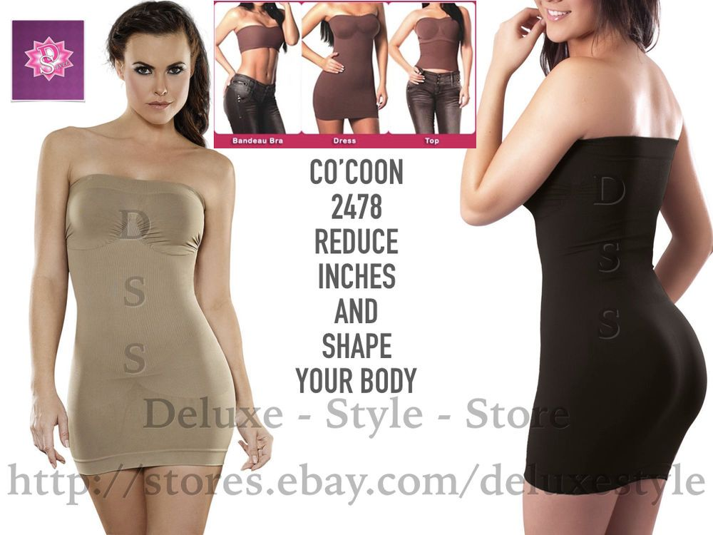 Co coon strapless magic dress color