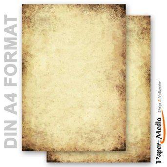 20 Blatt DIN A4 HERBST-RAHMEN Briefpapier Motiv