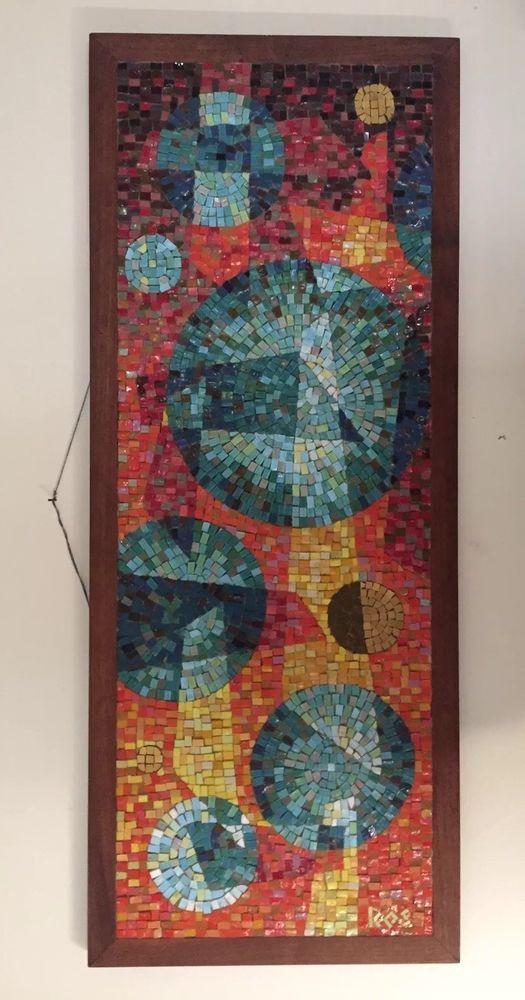 Kos Mid Century Modern Glass Tile Mosaic Evelyn Ackerman Era