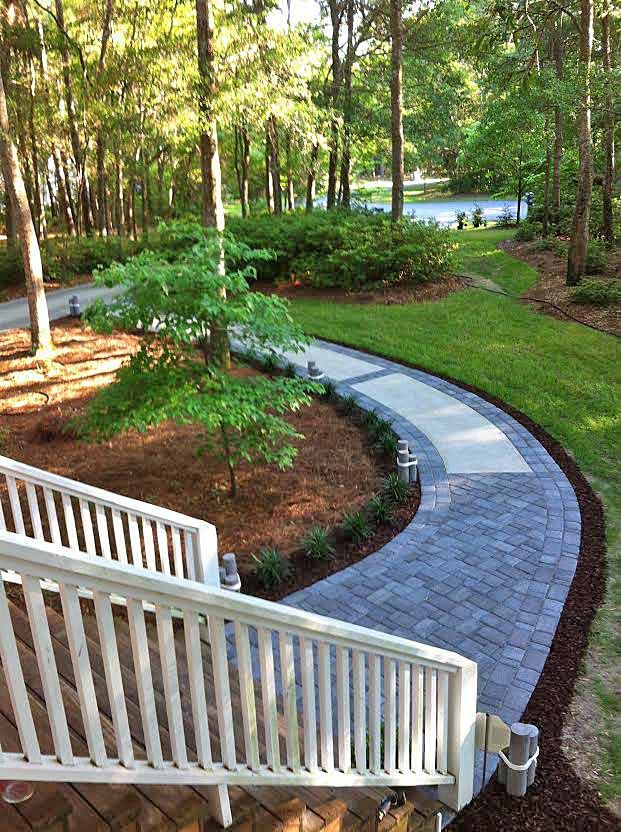 Concrete Walkway Transformed With Beautiful Cobble Stone