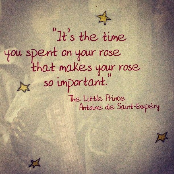 15 Quotes From The Little Prince That Will Make Your: The Time You Spent On Your Rose...
