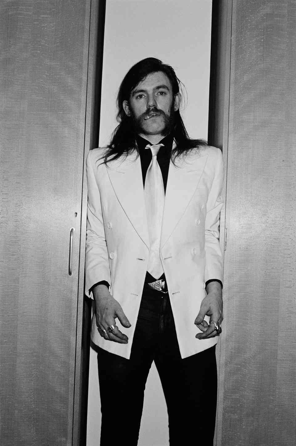 Backstage at Top Of The Pops TV Studios in London in February 1981