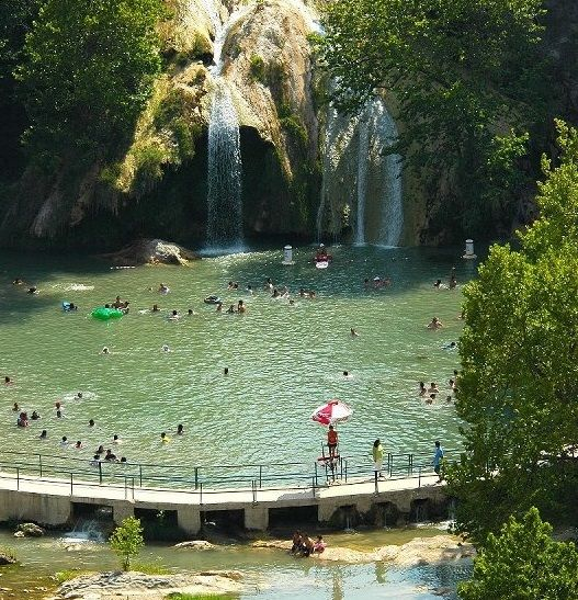 Turner Falls in Oklahoma is one of the best swimming holes in America.