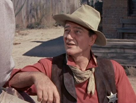 The Manliest Of Men Wearing A Scarf John Wayne Sporting Bandana