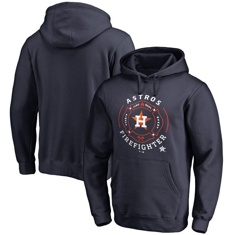 Houston Astros Firefighter Pullover Hoodie - Navy  51a89971bb8