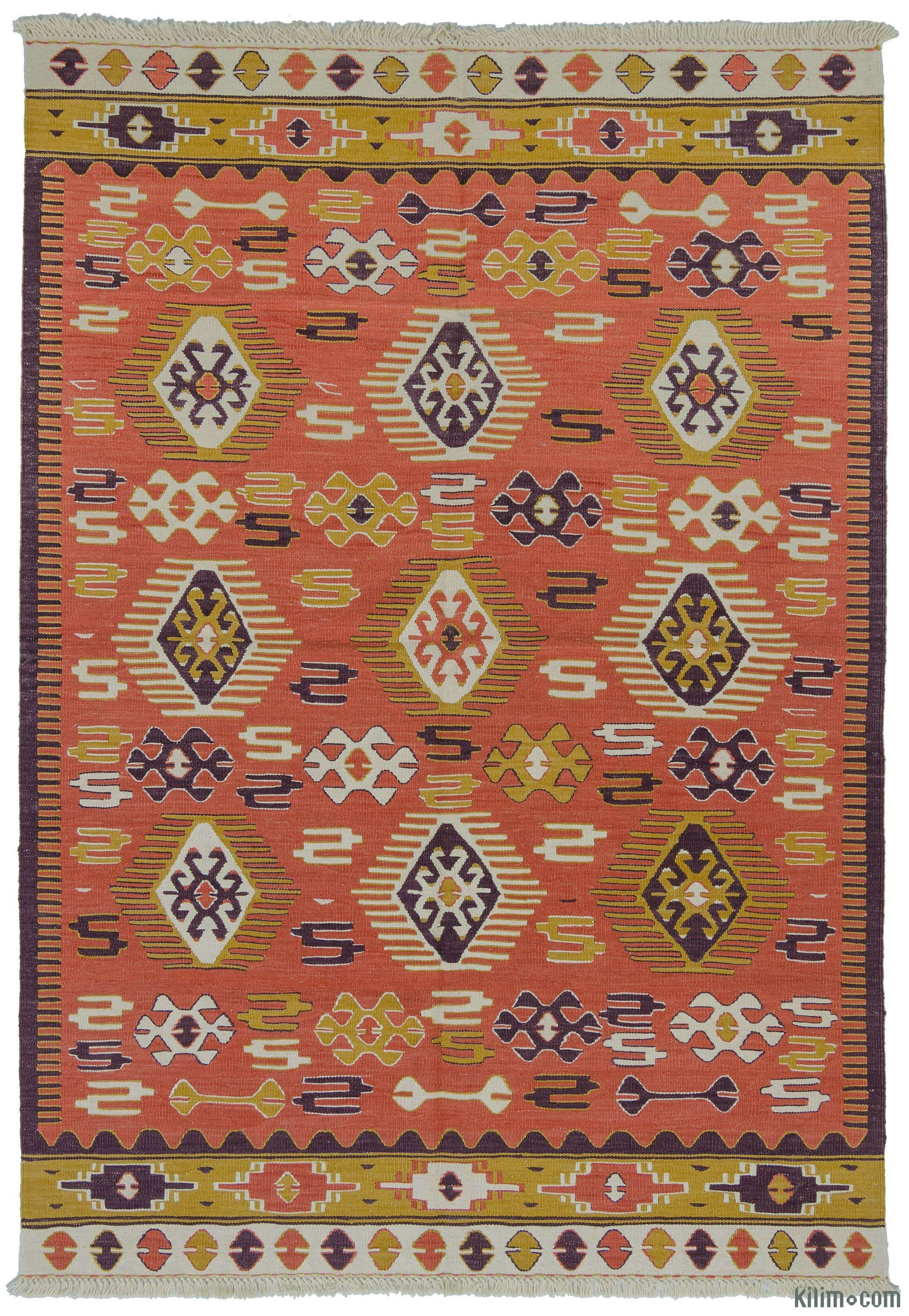 Kilim Rugs Overdyed Vintage Hand Made Turkish